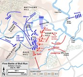 The Map Of the Battle of Bull Run