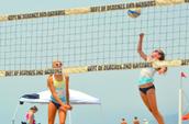 El voleibol en la playa