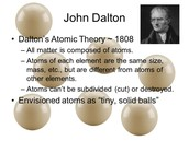 Description of Atomic Theory