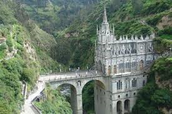 Las Lajas Cathedral in Narino.