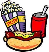 Hot Dogs $2...     Drinks $1...     Popcorn $1