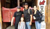 Tagudin family in front of the oldest saloon in Alaska (The Red Dog)!!