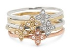 Moraley Flower Stackable Rings Size 5