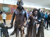 Statue of George Washington and his Family