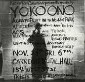 Poster for Works by Yoko Ono performance (1961)