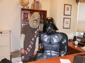 Chewy and Darth