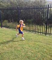 Bede sprinting!