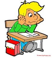 This represents Justin's third grade teacher making him read.