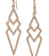 Pave Earrings - Rose Gold