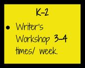 Goals K-2: