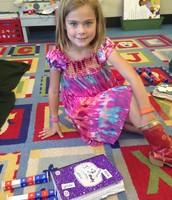 Bella building her word study words