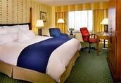 Me quedé en un hotel.