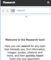 The Search bar opens in the document!