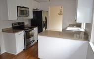 Stone countertops, new floor, new appliances