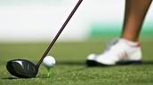 Fui a palo de golf y jugué golf.