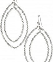 Bardot Hoop Earrings- Silver
