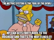 Simpsons and the metric system