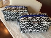 Black/White Streamers Pouf - NEW IN BOX!