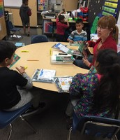 Guided Reading group with Ms. Urquhart