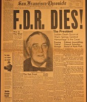 FDR's death made front headlines all over the U.S.