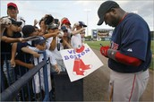 Autographs with Big Papi