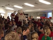 A surprise visit from Santa!