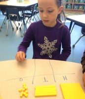 Abigail is working to make the number 22.