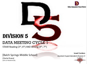 Division 5 Data Meeting - Next Steps...