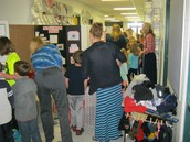 Lots to see at the WI Expo-kids looking on!