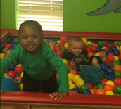 More ball pit fun!