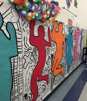 Awesome Artwork and Student work in our Hallways