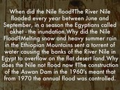 Why did the Nile flood every year?