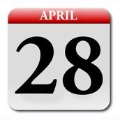 Next assginment due date is April 28.
