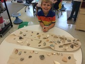 We loved the seashells from his beach trip