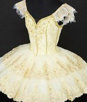 White and Gold old fashioned Ballet dress!