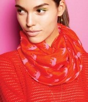 Elephant hot pink/poppy scarf