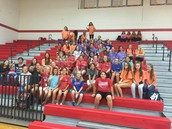 Girls athletics attends Mustang Volleyball night!