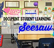 Document student learning!