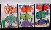 1st Grade-Three Fish Art