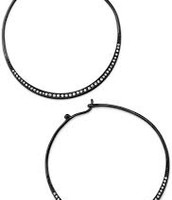 Heiress Hoops-Hematite