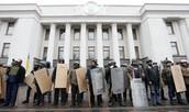 Ukrainian Nationalists Protest Against the Rebel Autonomy