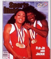 Jackie and her sister Flo-Jo
