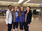 My friends and I at the airport
