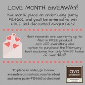 Love Month Giveaway!