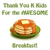 Pancake Breakfast Thank-You's