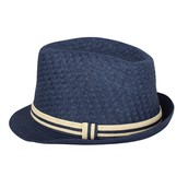 Straw Fedora Hat with Band