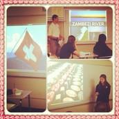 Junior High Students Present Cultural Facts