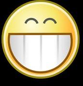 Huge smile