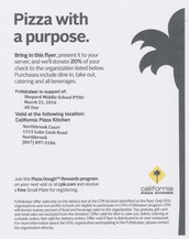 PTSO Fundraiser - March 21st at California Pizza Kitchen!