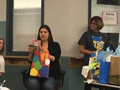 Celebrating our awesome Pillow teacher, Ms. Martinez, at her baby shower!